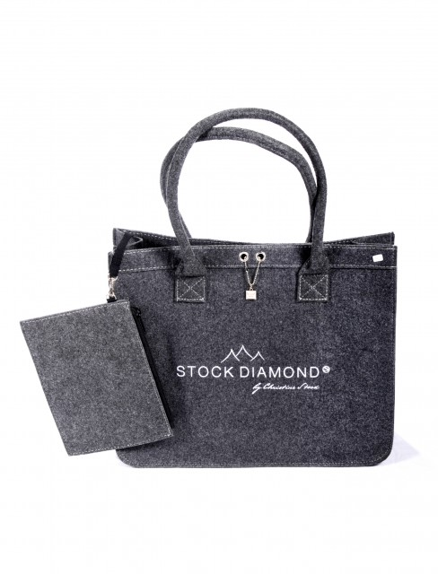 STOCK Diamond Filztasche
